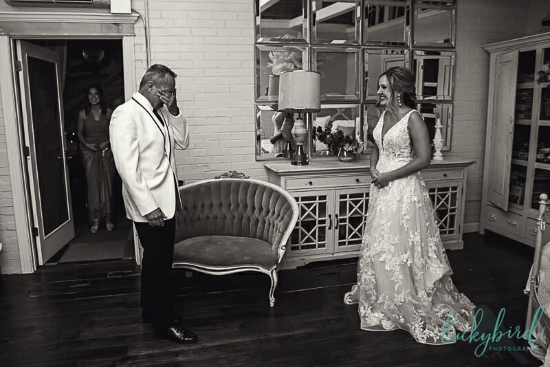 bride and dad at the armory first look