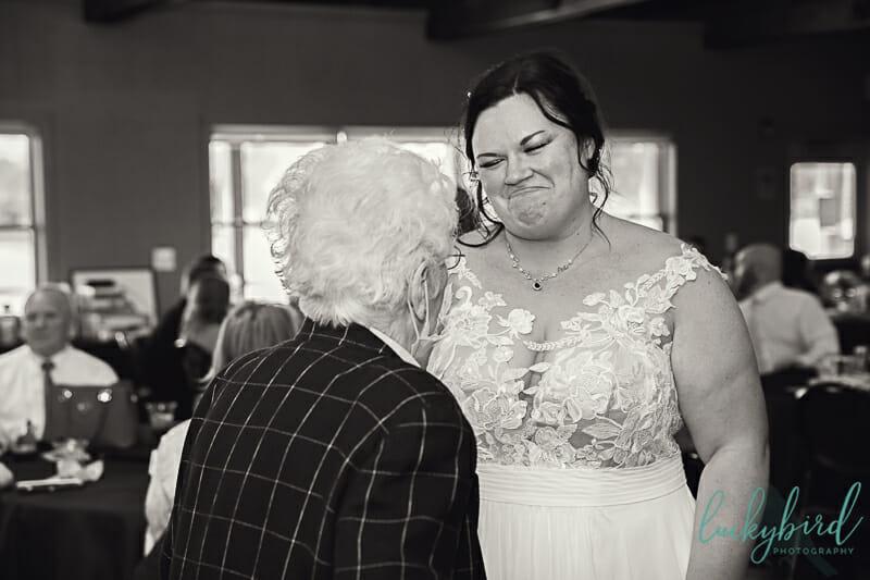 bride during covid wedding