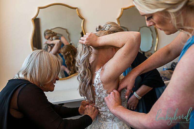 bride getting ready at nazareth hall