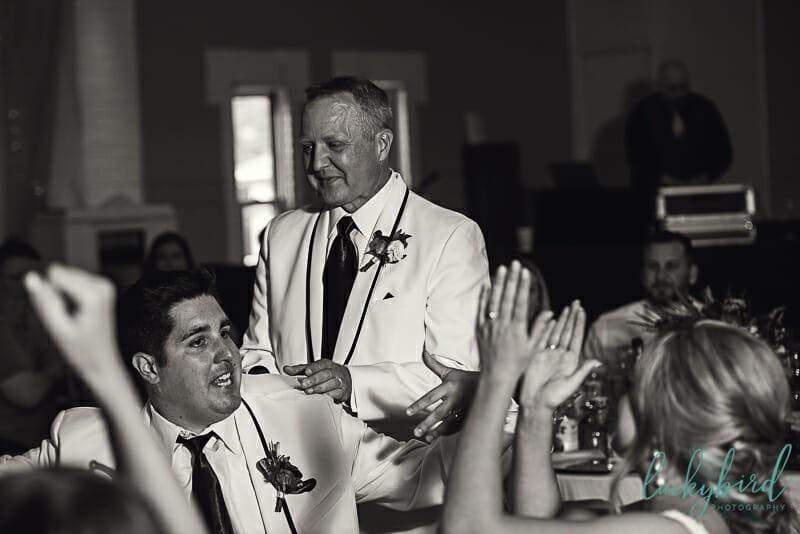 bride's dad giving wedding toast