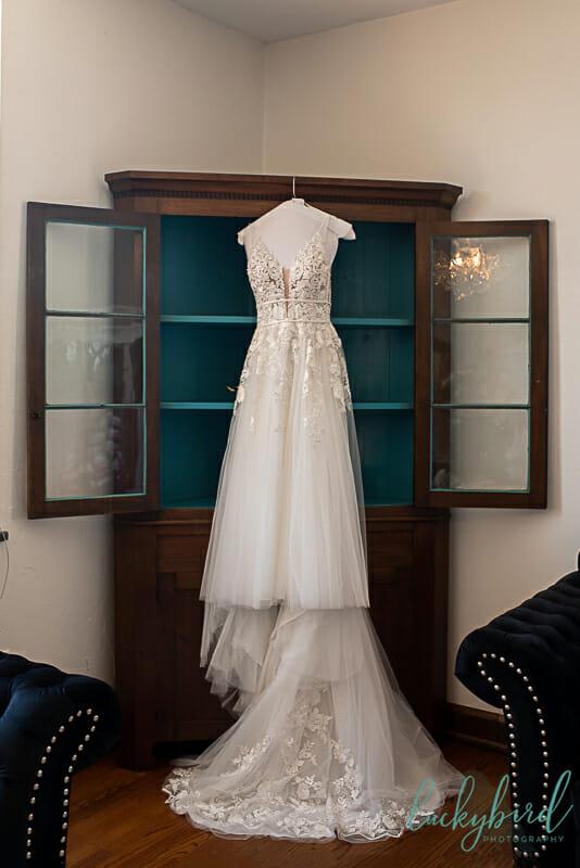 dress hanging inside nazareth hall