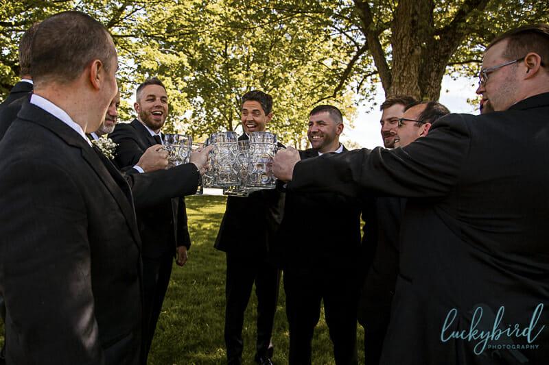 groomsmen toast at nazareth hall