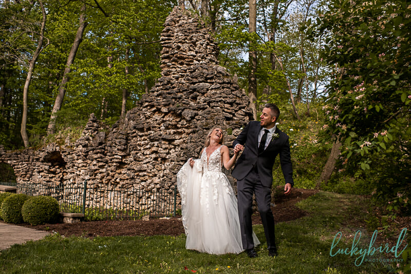nazareth hall wedding photos in grotto