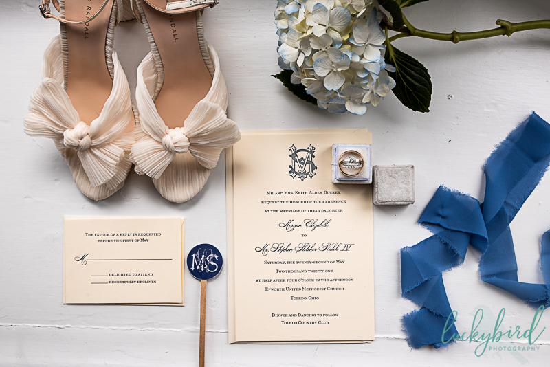 wedding details at toledo country club