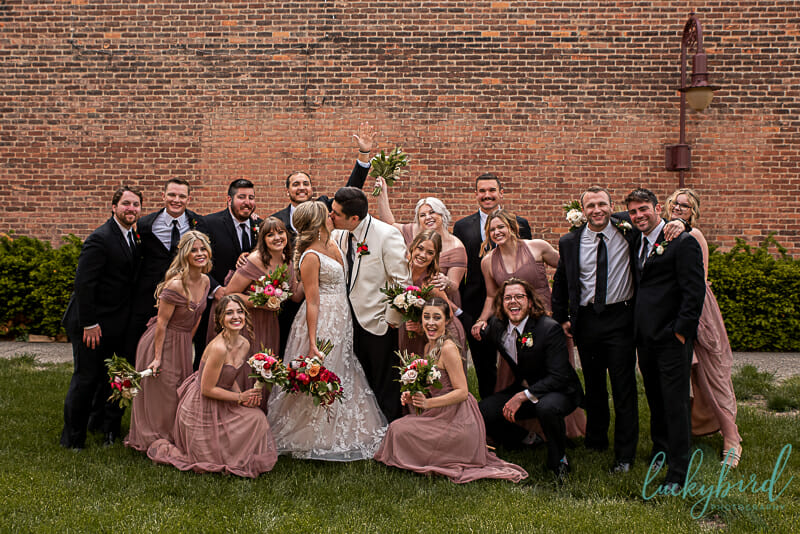 wedding party in downtown maumee