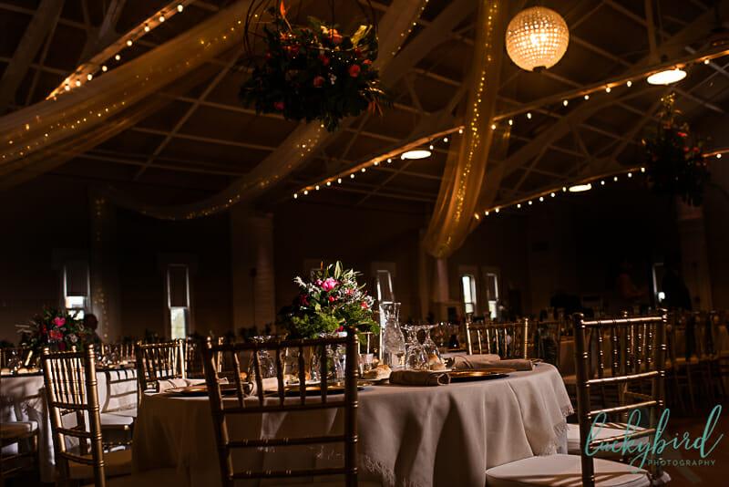 wedding party tunnel photo running through