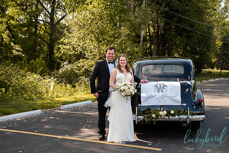 wedding with classic car toledo