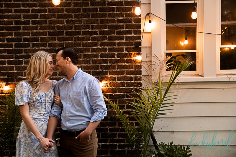 at home toledo engagement photos