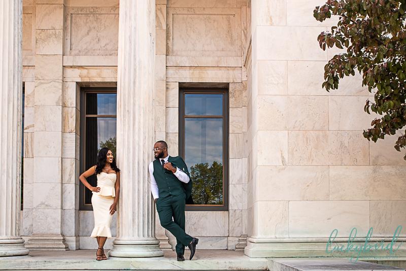 black couple engagement photos toledo