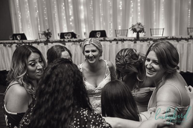 bride and bridesmaids perrysburg reception