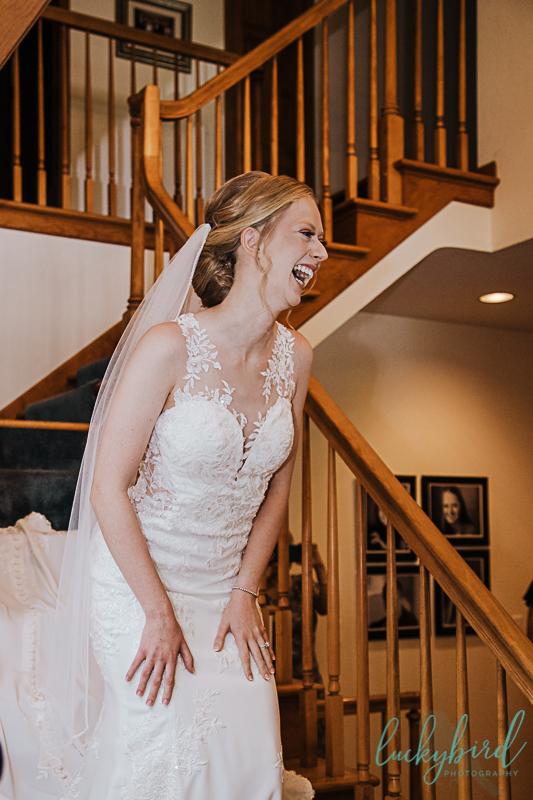 bride seeing bridesmaids first look