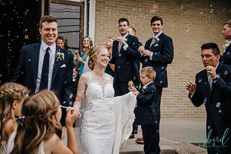 bubble exit at toledo wedding