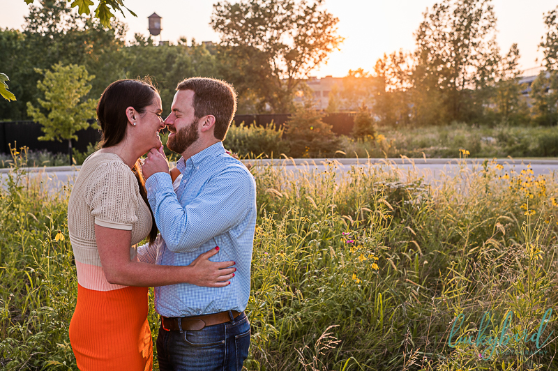 candid and fun toledo engagement photos