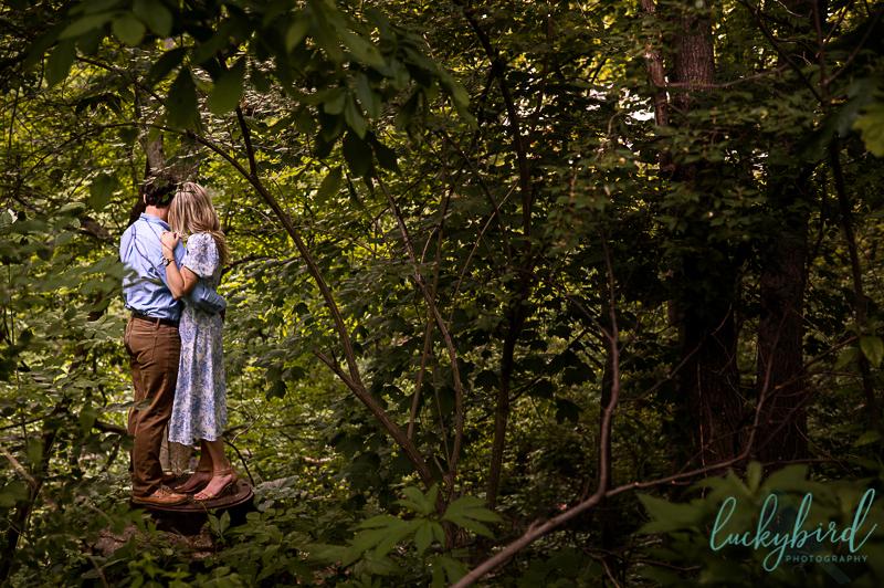 engagement photos at delaware creek ravine toledo