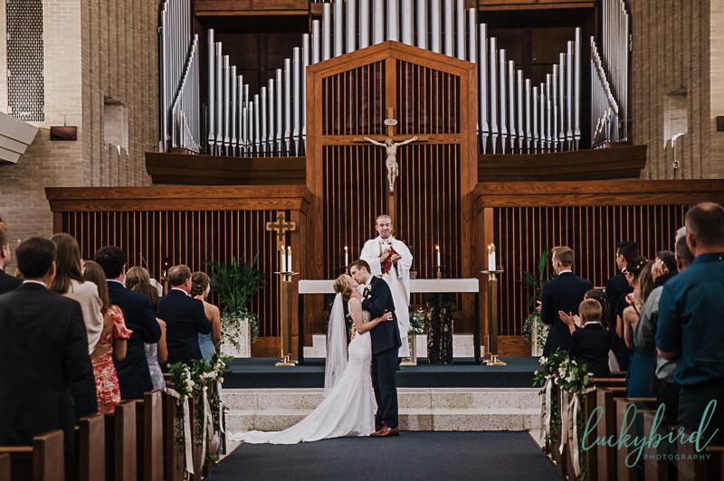 first kiss sylvania wedding
