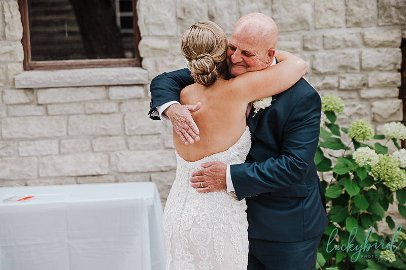 first look with dad ohio wedding photo