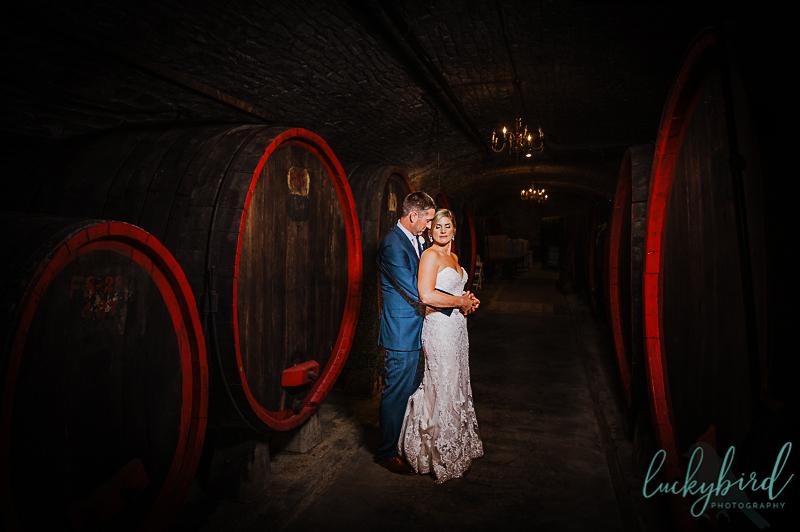 gideon owen wedding photos in wine cellar