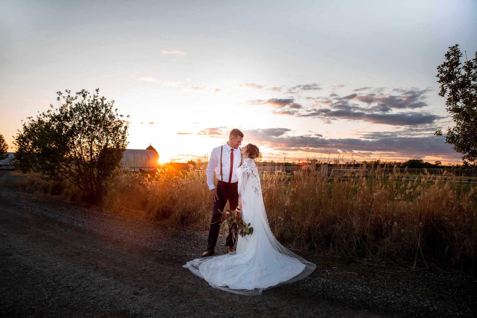 heban's field of dreams wedding photo