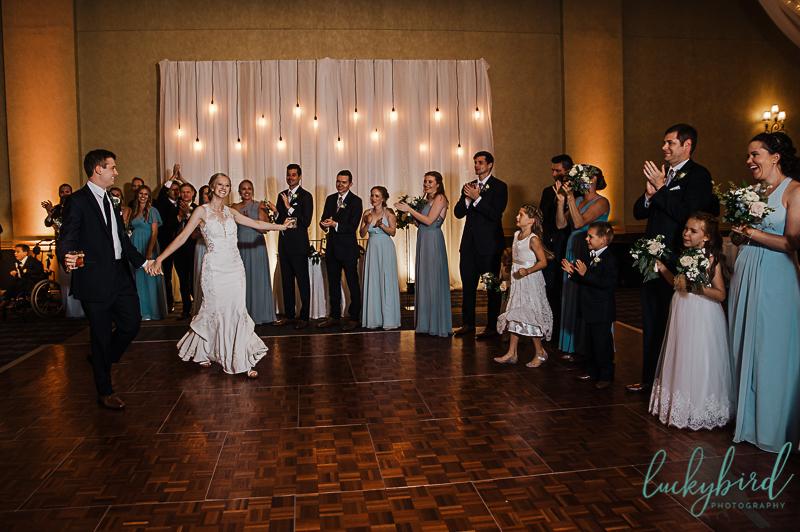 hilton garden inn introduction wedding reception photo