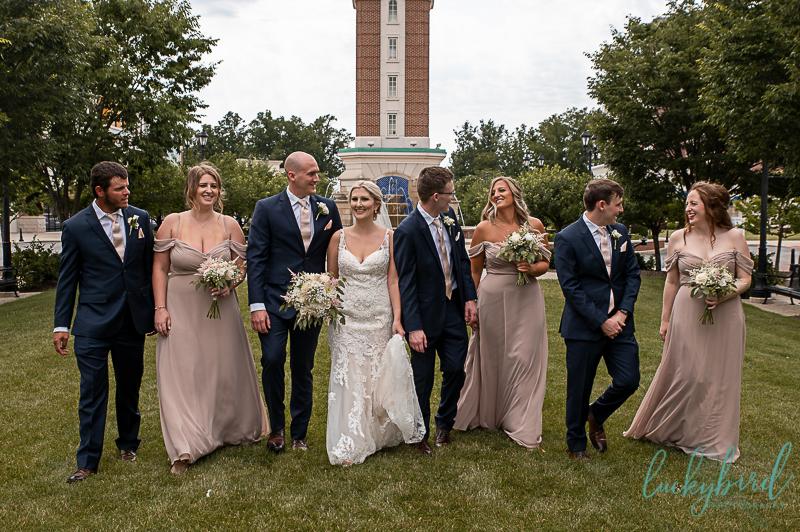 hilton garden inn wedding bridal party photo