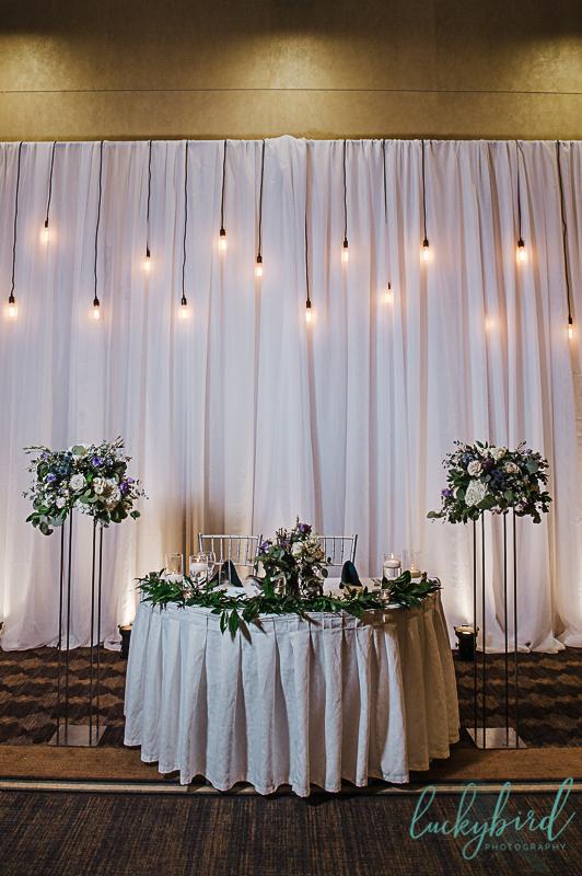 hilton garden inn wedding photos with mager designs backdrop