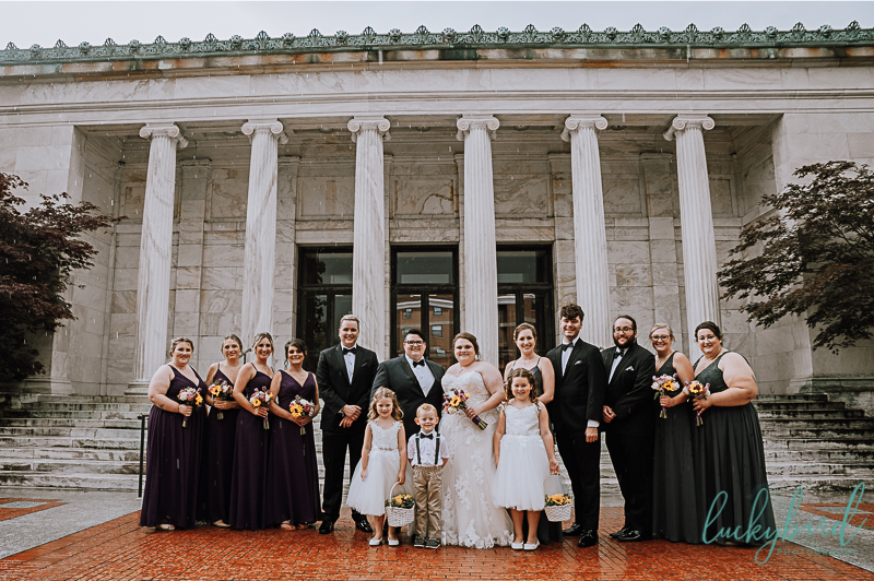 mixed wedding bridal party in toledo