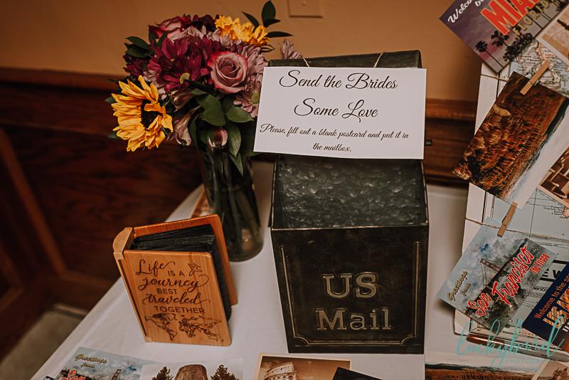 postcard wedding guestbook