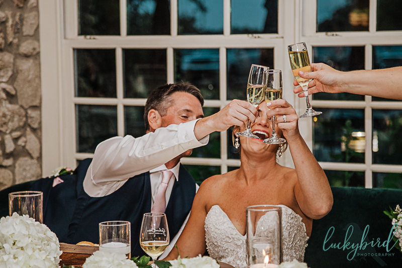 toast at gideon owen winery wedding