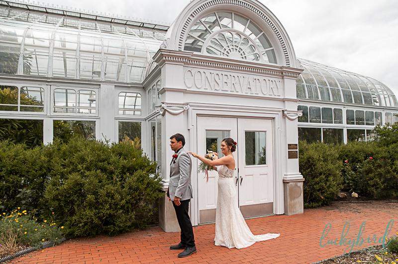 toledo zoo conservatory wedding first look