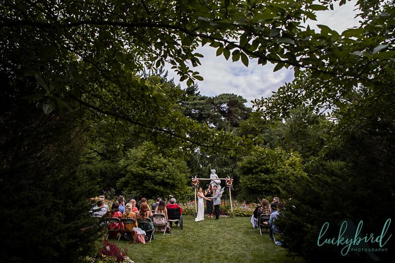 toledo zoo outdoor wedding in the formal gardens