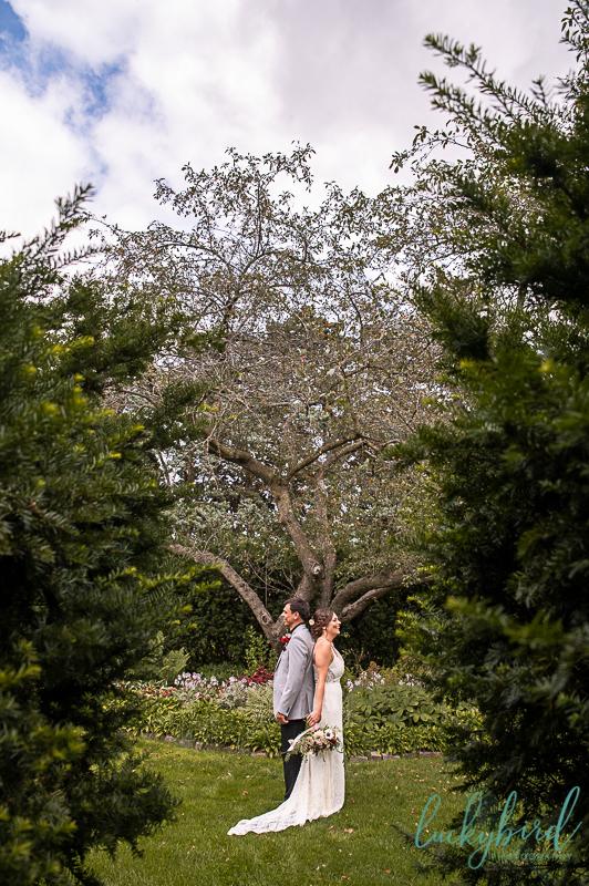 toledo zoo wedding photos in garden