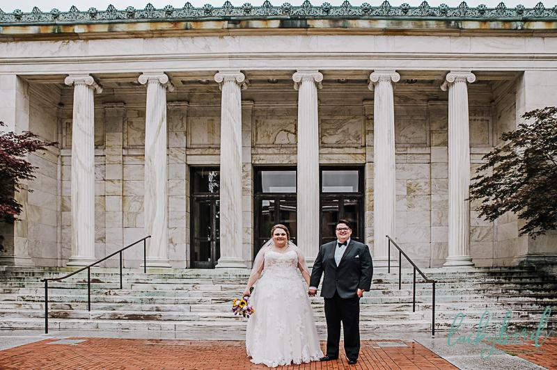 two brides at toledo museum of art wedding