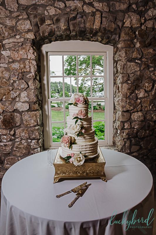 wedding cake at gideon owen winery wedding