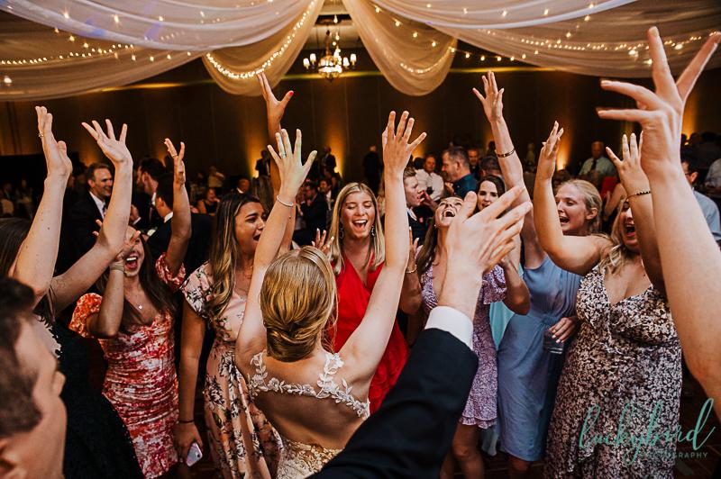 wedding reception dancing photos at hilton garden inn