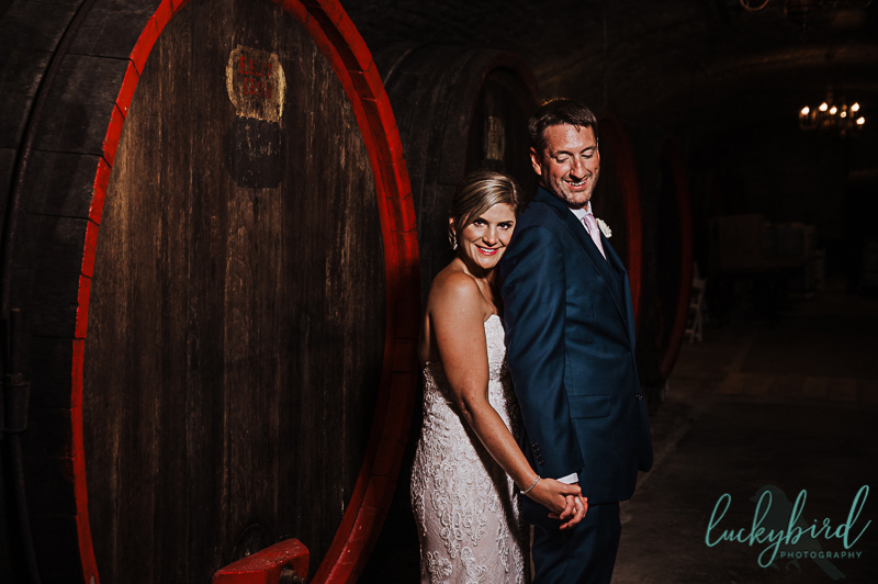 wine cellar photos at gideon owen winery wedding