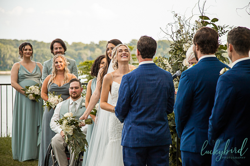 bride-laughing-during-toledo-country-club-wedding