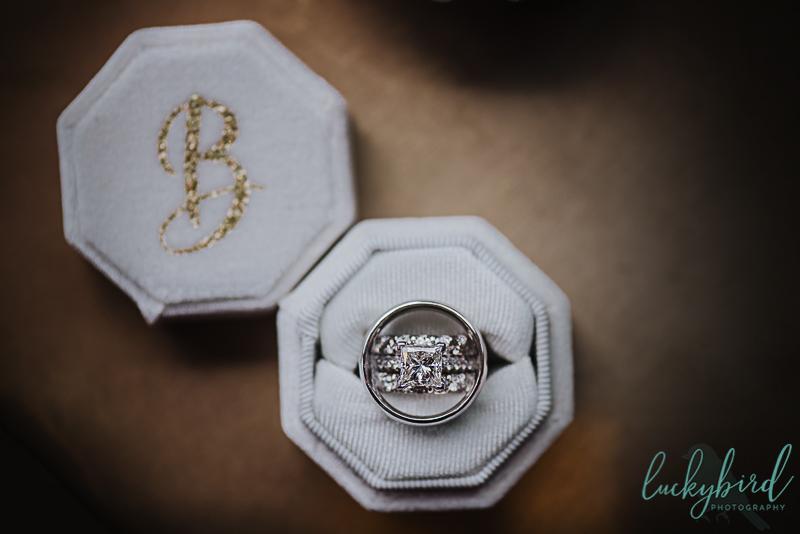 brides ring inside ring box at renaissance toledo