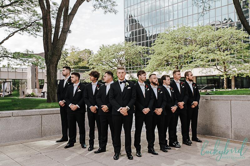 groom and groomsmen at renaissance toledo