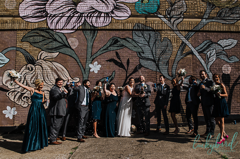 champagne-pop-at-downtown-toledo-wedding