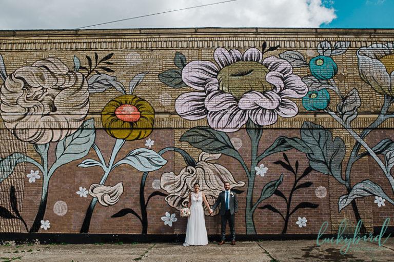 handmade-toledo-flower-floral-mural-photo-of-wedding-couple